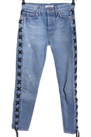 GRLFRND Slim Jeans blau Casual-Look