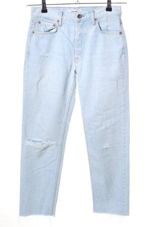 GRLFRND Straight-Leg Jeans blau Casual-Look