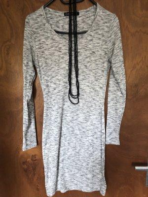FB Sister Abito maglione grigio-bianco