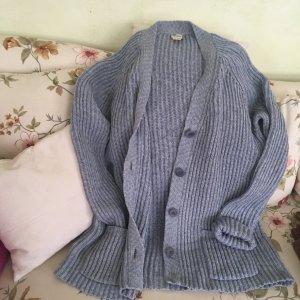 hessnatur Cárdigan de punto grueso gris pizarra lana de alpaca