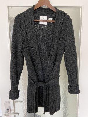 H&M Coarse Knitted Jacket dark grey