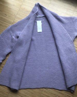 SusyMix Coarse Knitted Jacket purple polyacrylic
