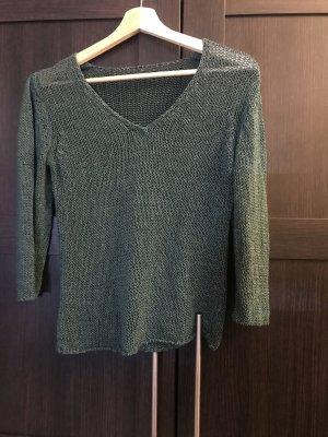 Sweter z grubej dzianiny petrol Poliakryl