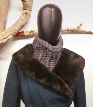 Grobstrick Loop Schal aus Wolle