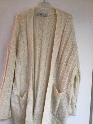 Zara Knit Coarse Knitted Jacket natural white