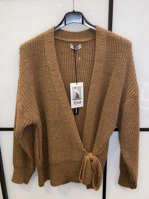 Made in Italy Pullover a maglia grossa cognac