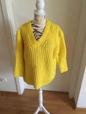 Mango Kimono Sweater neon yellow-yellow