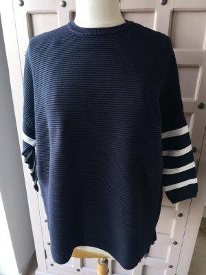 Sweewe Jersey de punto grueso blanco-azul oscuro