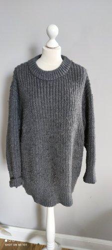 Zara Grof gebreide trui grijs-donkergrijs