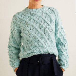 Grobstrick Pullover mint grün heavy chunky knit blogger