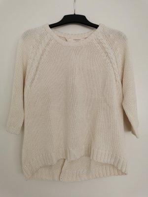 Grobstrick-Pullover mit Rückendetail