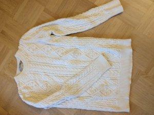 Zara Jersey de punto grueso blanco puro Algodón