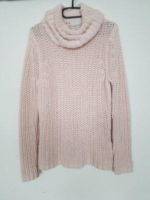 Oui Turtleneck Sweater nude cotton
