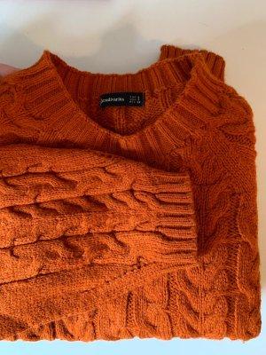 Grobstrick Wollpulli orange