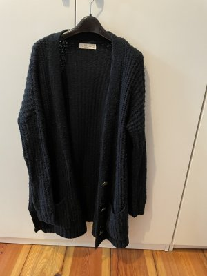 Abercrombie & Fitch Coarse Knitted Jacket dark blue