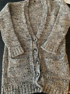 Benetton Coarse Knitted Jacket multicolored alpaca wool