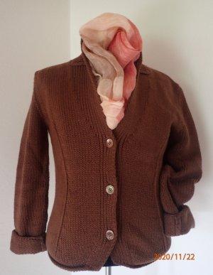 Joe Taft Cardigan a maglia grossa marrone Cotone
