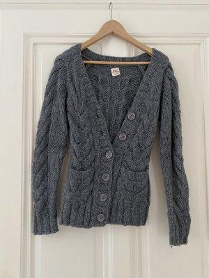 Nolita Veste tricotée en grosses mailles gris