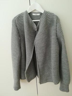 Ange Paris Cardigan a maglia grossa grigio chiaro-grigio