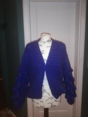 Cardigan a maglia grossa blu Acrilico