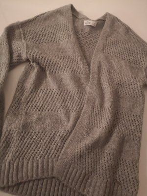 Hollister Coarse Knitted Jacket grey