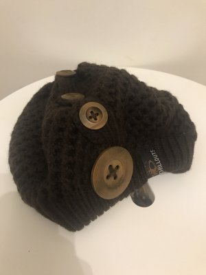 Chillouts Cappello a maglia marrone scuro-marrone