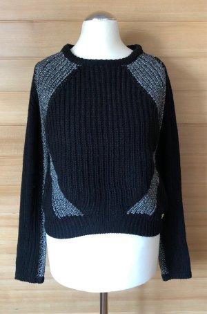 Maglione girocollo nero-argento Acrilico