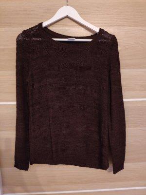 Vero Moda Veste tricotée en grosses mailles rouge mûre