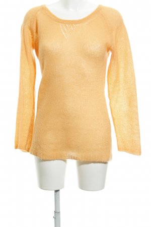 Grobstrickpullover apricot Casual-Look