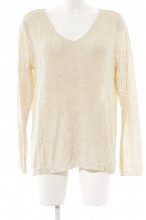 Grobstrickpullover creme Casual-Look