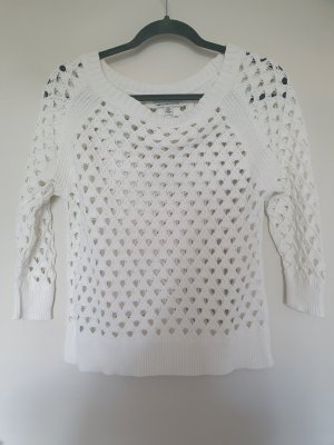 American Eagle Outfitters Coarse Knitted Sweater white