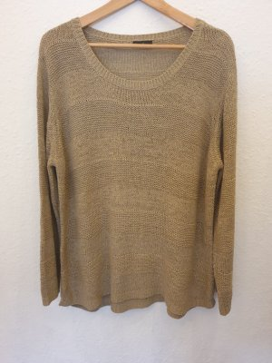 Laura T: Coarse Knitted Sweater grey brown