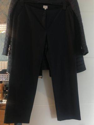 Armani Collezioni Pantalon «Baggy» bleu foncé