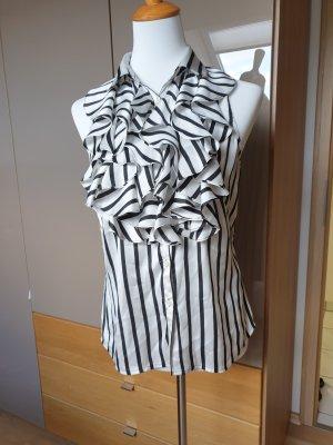 Ralph Lauren Sleeveless Blouse white-black