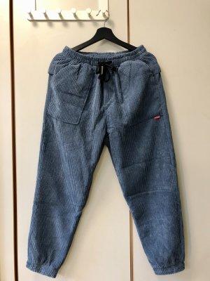 Pantalon boyfriend bleu acier