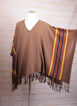 Colours of the World Knitted Poncho multicolored