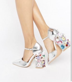 Daisy Street Strapped High-Heeled Sandals multicolored