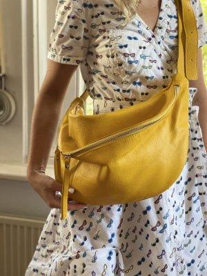 Borse in Pelle Italy Buideltas geel Leer
