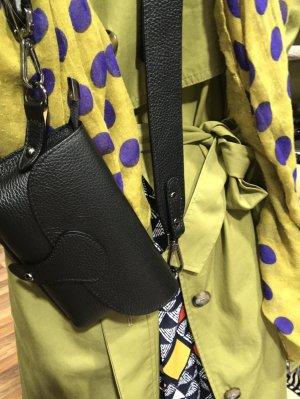 Grossbody Handtasche Tasche Vintage Look Leder Umhängetasche schwarz neu