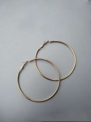 Ear Hoops gold-colored metal