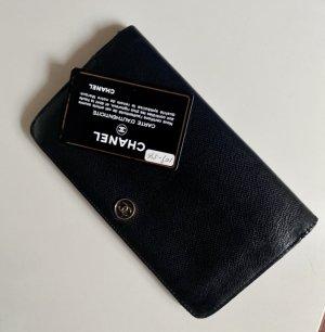 Große chanel Geldbörse Wallet Geldbeutel schwarz