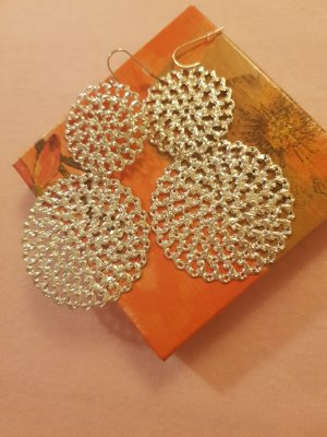 Statement Earrings silver-colored-gold-colored