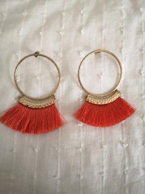 H&M Pendientes de cuentas color oro-naranja
