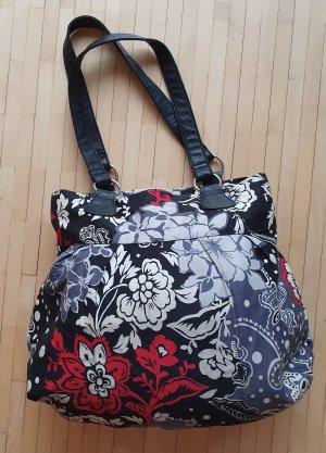 Große Damen-Tasche mit Blumenmuster