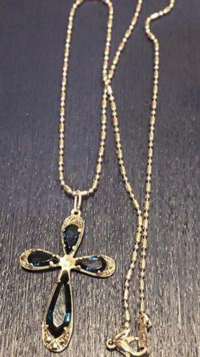 Silver Chain silver-colored-steel blue