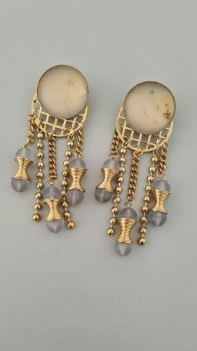 Vintage Earclip gold-colored-white