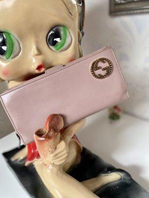 Große Gucci Pink Leder Geldbörse Geldbeutel Portmonee