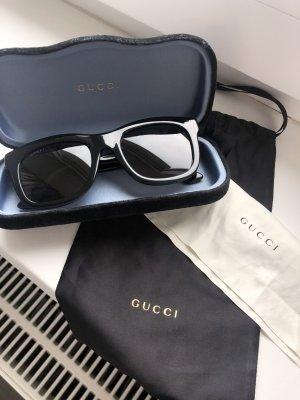 Gucci Hoekige zonnebril zwart-zandig bruin