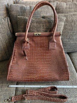 Grosse Handtasche Crocoprint Fakeleather hochwertig