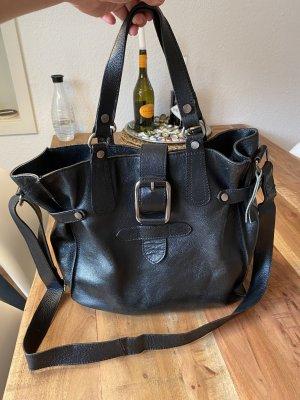 große Handtasche Henkeltasche aus echtem Leder